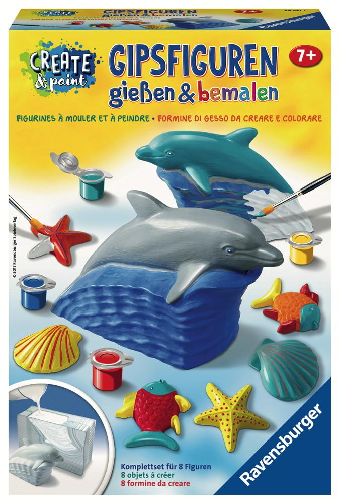 Ravensburger Creation Create & Paint Gipsfigur Delfin 28521