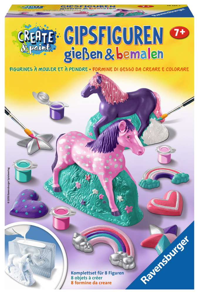 Ravensburger Creation Create & Paint Gipsfigur Fantasy Horse 28524