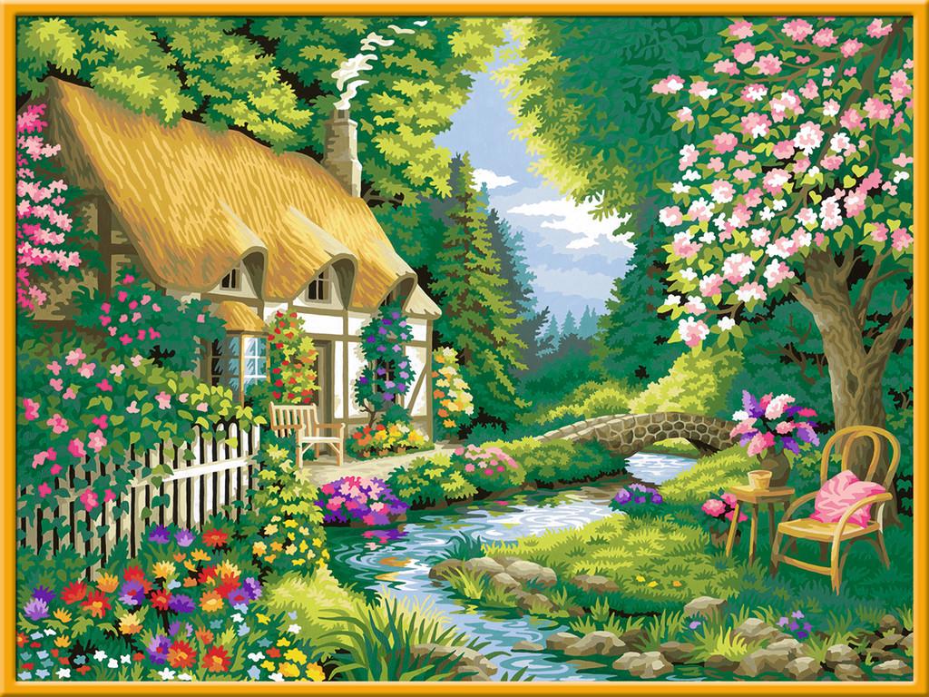 Ravensburger Malen Nach Zahlen Premium Serie B Cottage Garden 28843