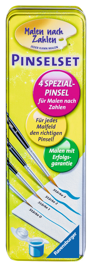 Ravensburger Malen nach Zahlen Pinselset (4 Pinsel) 29099