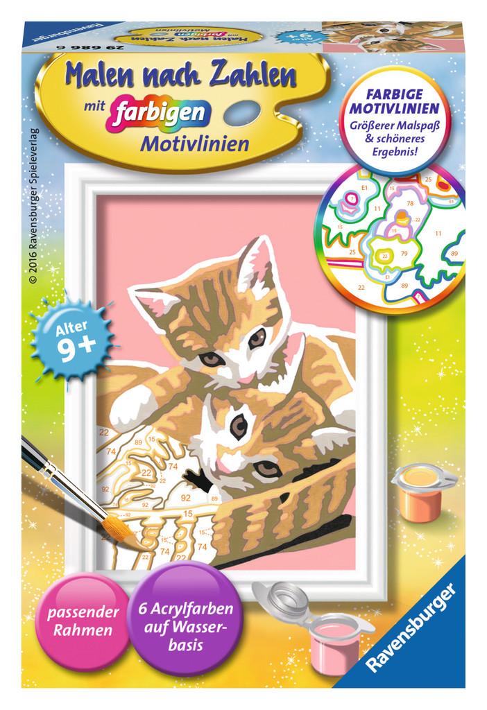 Ravensburger Malen nach Zahlen Classic Serie F Katzenbabys 29686