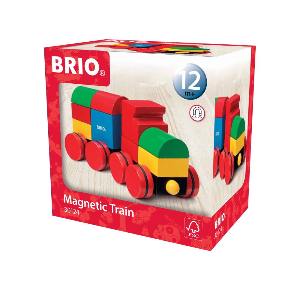 Brio Kleinkindwelt Holz Stapelspielzeug Magnetischer Holzzug 11 Teile 30124