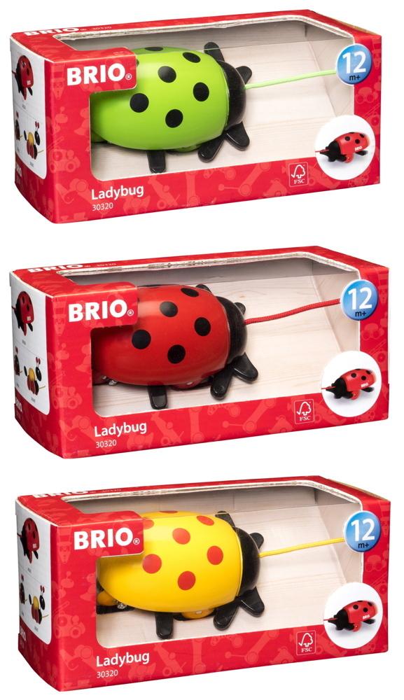 Brio Kleinkindwelt Holz Nachziehspielzeug Marienkäfer 30320