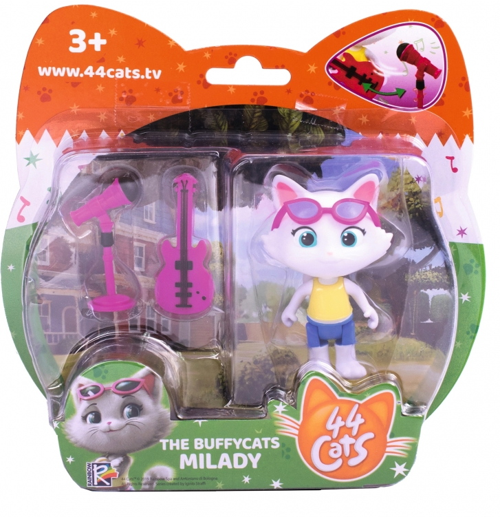 Smoby Spielwelten Spielfigur 44 CATS Milady mit Bassgitarre 7,7 cm 7600180111