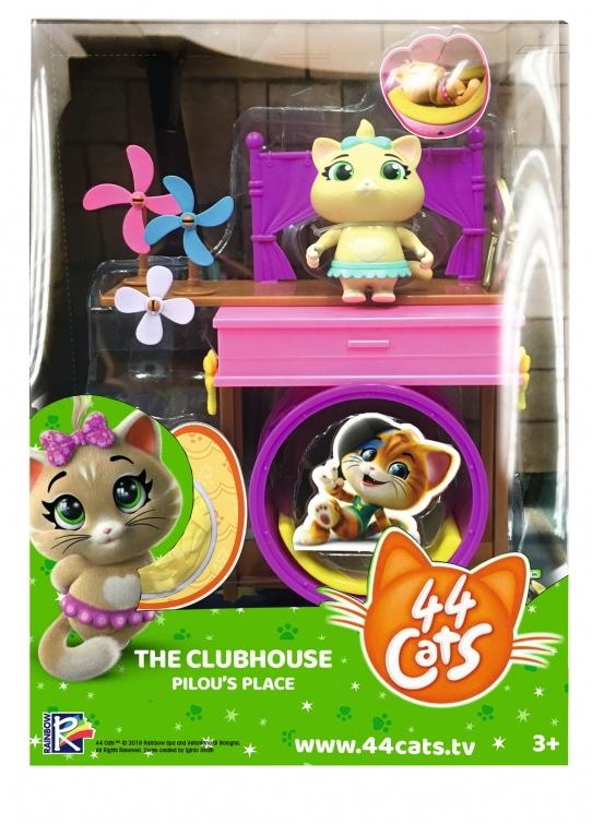 Smoby Spielwelten Spielfigur 44 CATS Set Deluxe Spielfigur Pilou 7,7 cm 7600180219