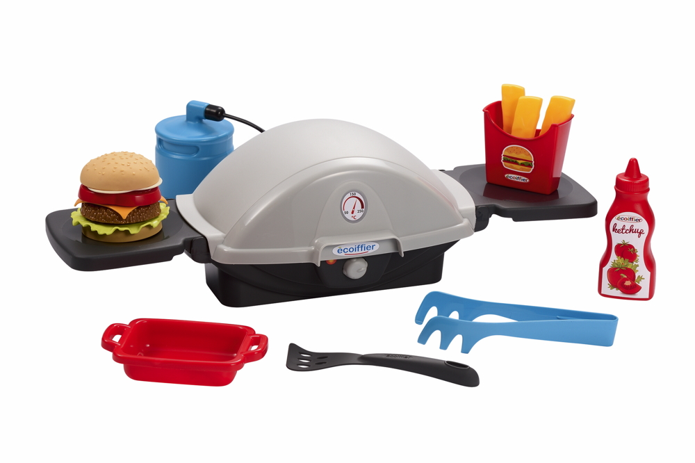 Ecoiffier Outdoor Spielzeug Garten Grill Barbecue Gasgrill Burger Pommes 7600004665