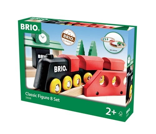 Brio Eisenbahn Classic Set Bahn Acht Set 22 Teile 33028