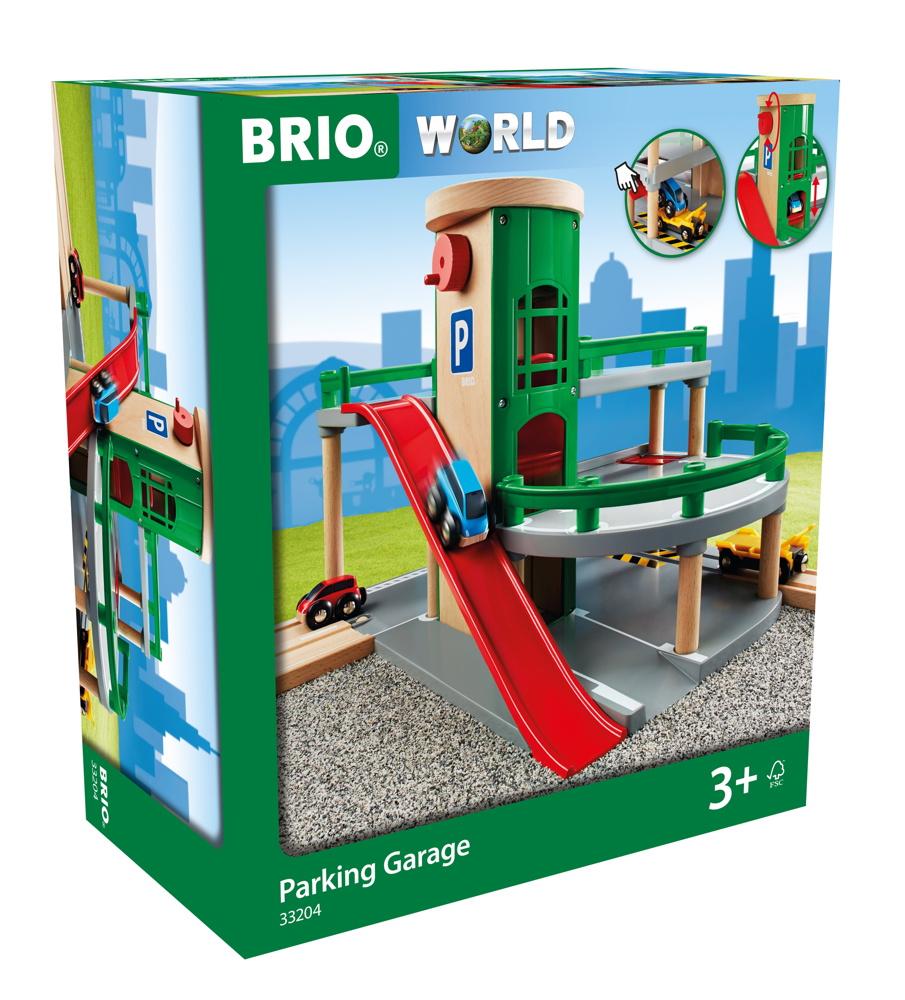 Brio World Eisenbahn Gebäude Parkhaus, Straßen und Schienen 7 Teile 33204