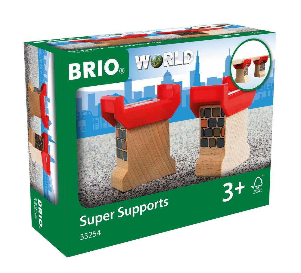 Brio World Eisenbahn Brücke Brückenfundament 2 Teile 33254