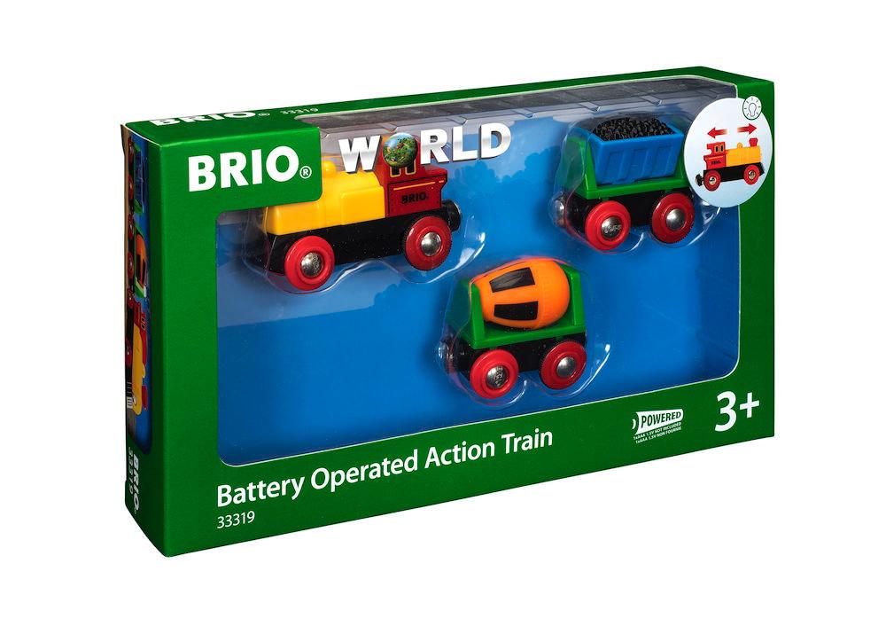 Brio World Eisenbahn Zug mit Batterielok 3 Teile 33319