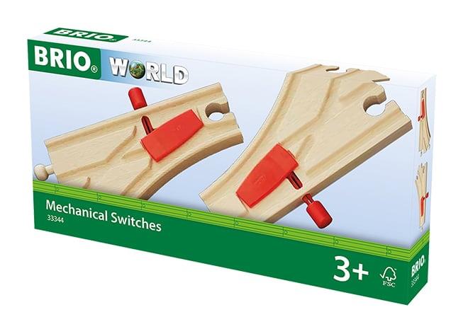 Brio World Eisenbahn Weichen Mechanische Weichen (L1/M1) 2 Teile 33344