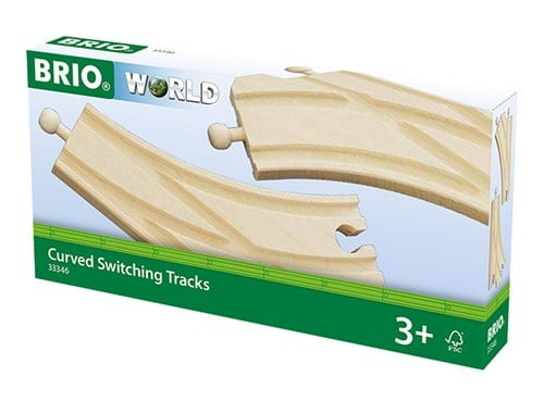 Brio World Eisenbahn Weichen Bogenweichen (L,M) 2 Teile 33346