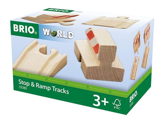 Brio World Eisenbahn Zubehör Rampen und Prell-Bock Pack 4 Teile 33385