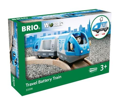 Brio World Eisenbahn Zug Blauer Reisezug Batterielok 3 Teile 33506