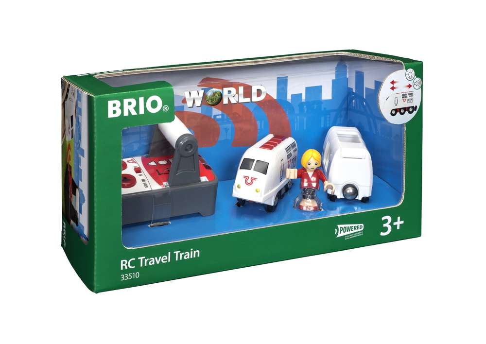 Brio World Eisenbahn Zug IR Express Reisezug mit Fernsteuerung 4 Teile 33510