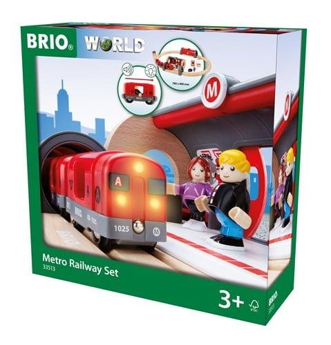 Brio World Eisenbahn Set Metro Bahn Set 20 Teile 33513