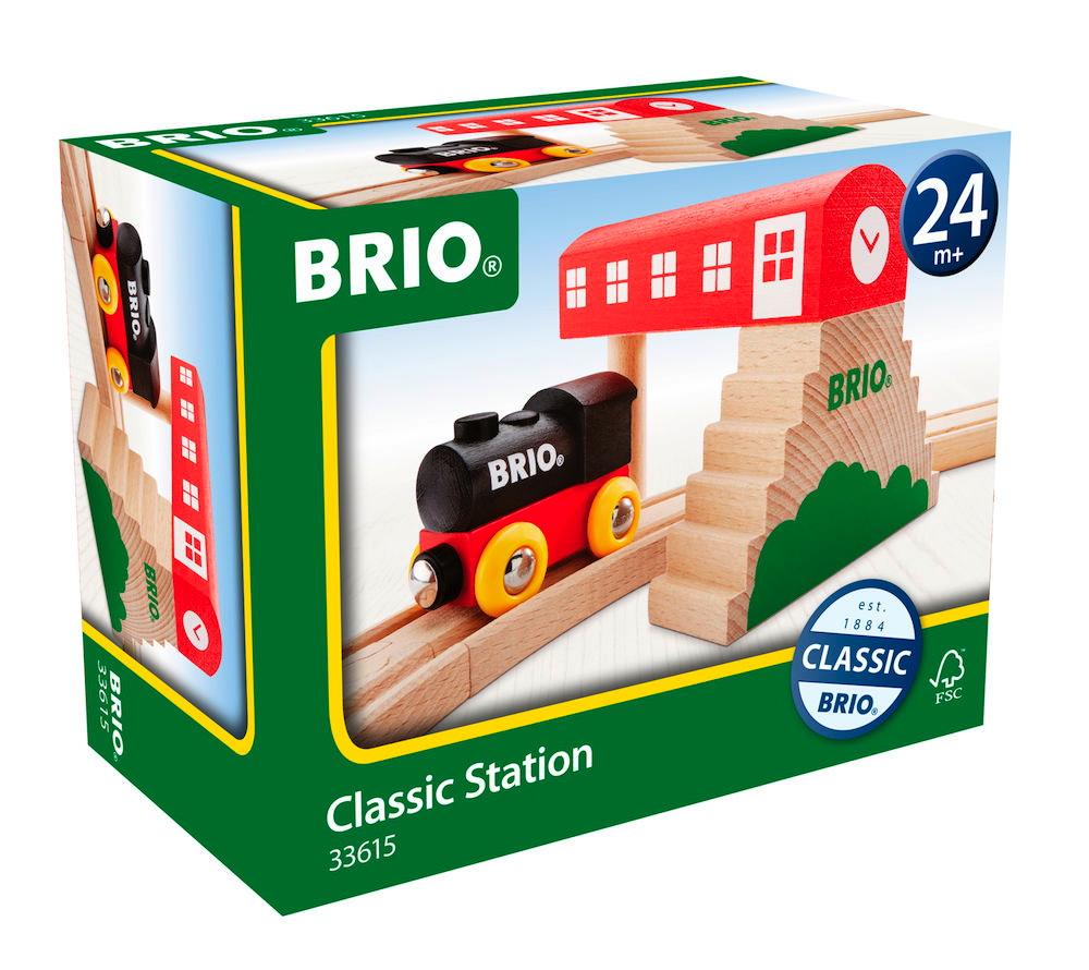 Brio Eisenbahn Classic Gebäude Bahnhof 2 Teile 33615