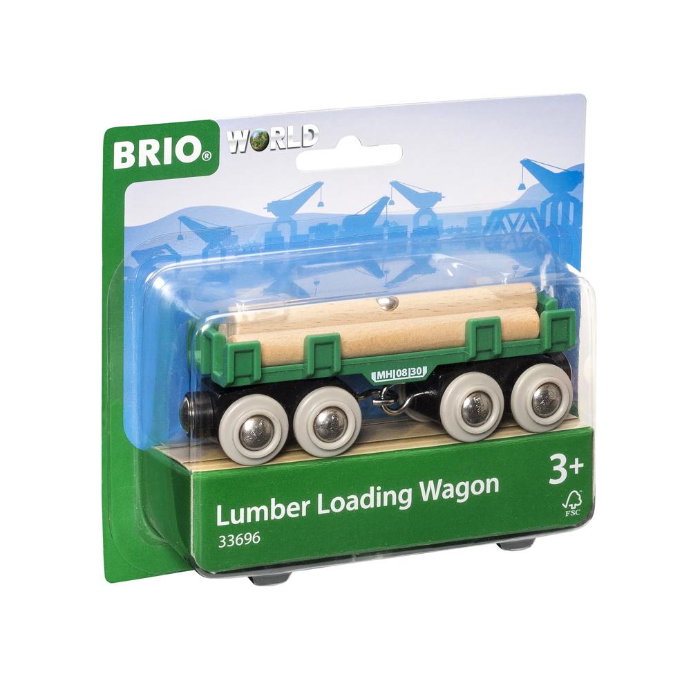 Brio World Eisenbahn Waggon Langholzwagen 4 Teile 33696