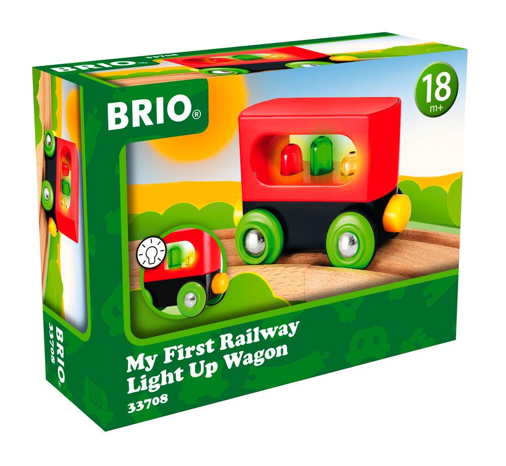 Brio Eisenbahn Meine erste Brio Bahn Waggon Mein erster Waggon mit Licht 33708