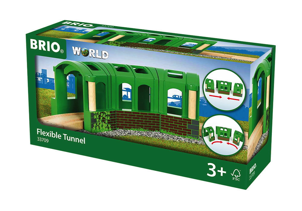 Brio World Eisenbahn Tunnel Flexibler Tunnel 3 Teile 33709