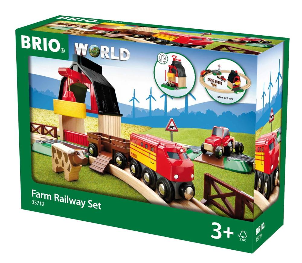 Brio World Eisenbahn Set Bauernhof Set 22 Teile 33719