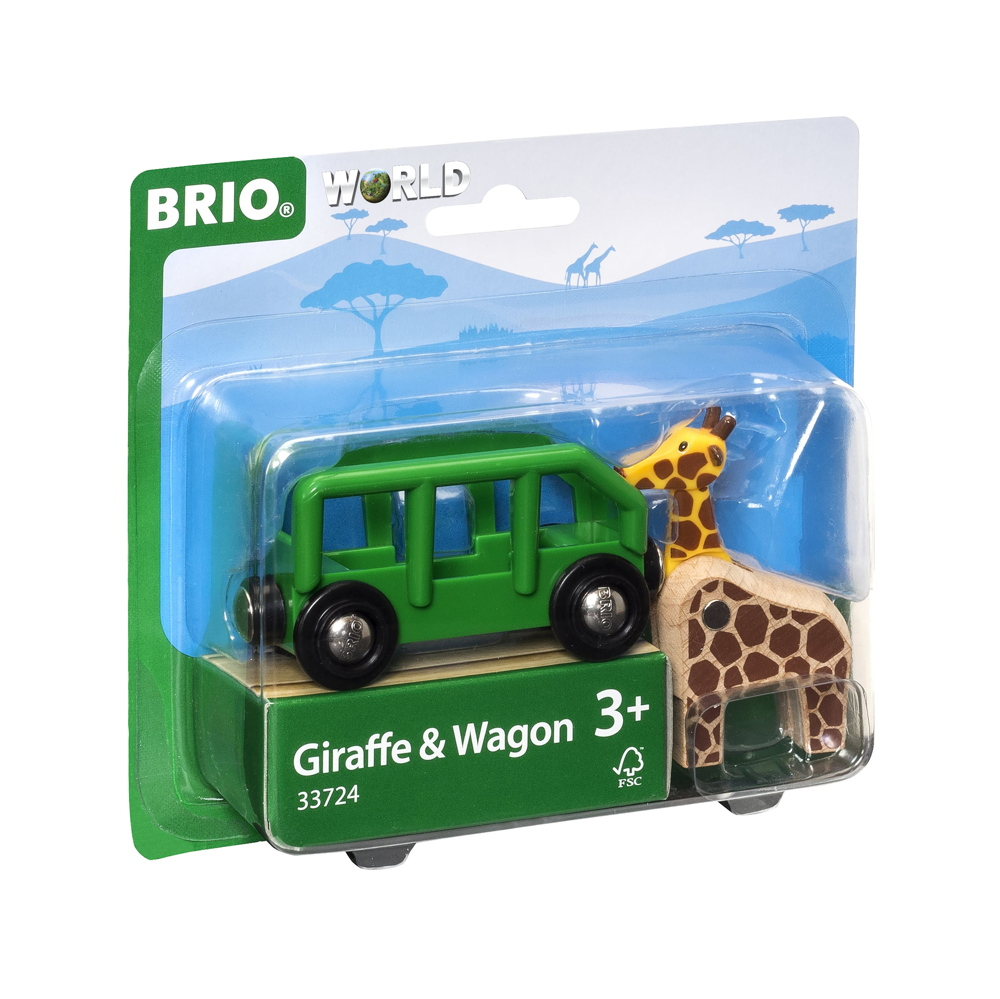 Brio World Eisenbahn Waggon Giraffenwagen 2 Teile 33724