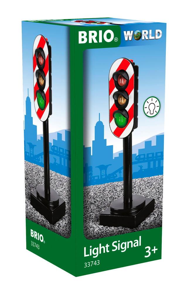 Brio World Eisenbahn Zubehör Lichtsignal Ampel 33743