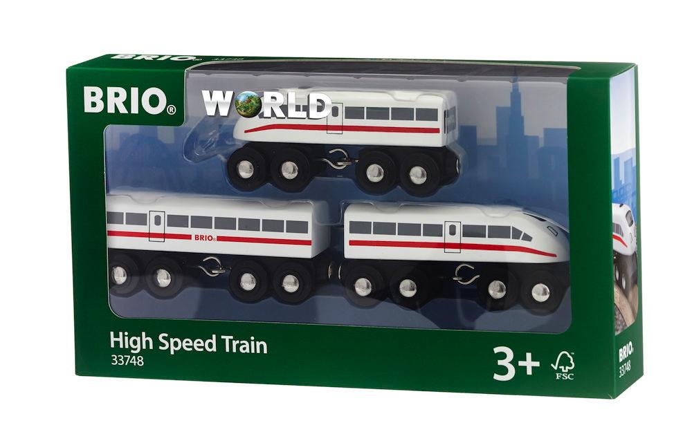 Brio World Eisenbahn Zug Schnellzug mit Sound 3 Teile 33748