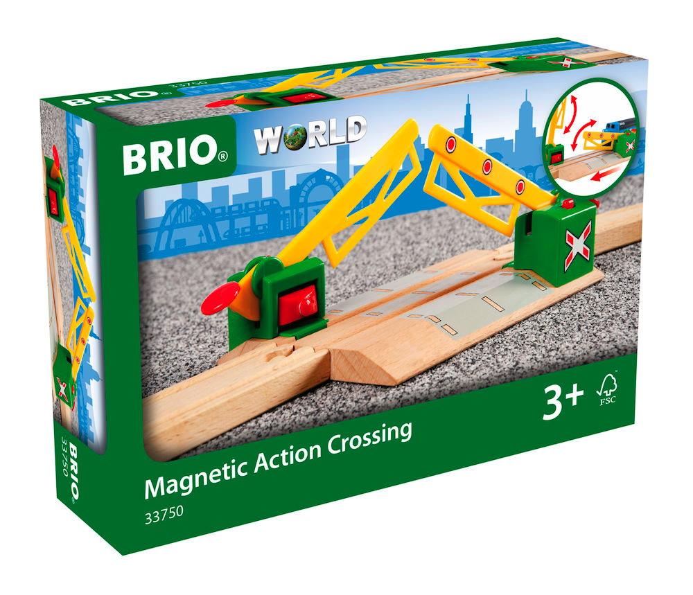 Brio World Eisenbahn Zubehör Magnetische Kreuzung 33750