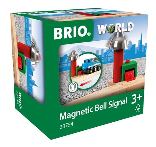 Brio World Eisenbahn Zubehör Magnetisches Glockensignal 33754