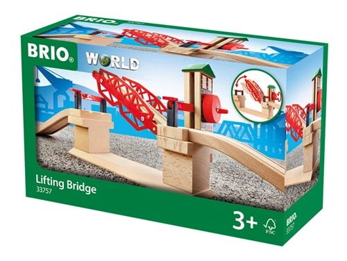 Brio World Eisenbahn Brücke Hebebrücke 3 Teile 33757