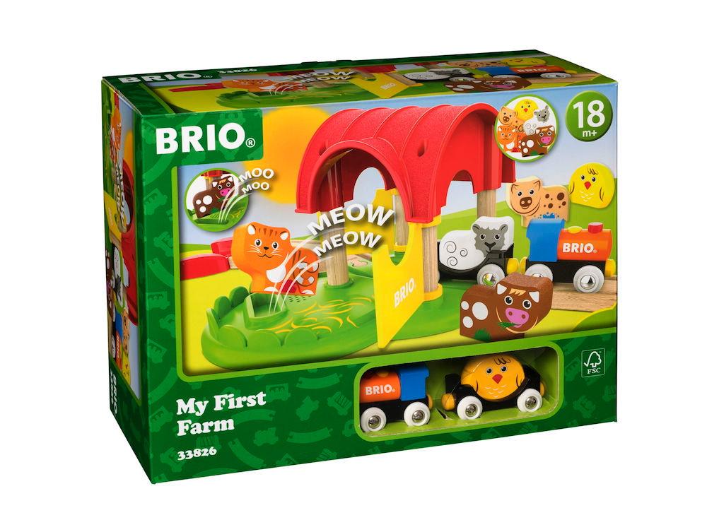 Brio Eisenbahn Meine erste Brio Bahn Set Mein erster Bauernhof 12 Teile 33826