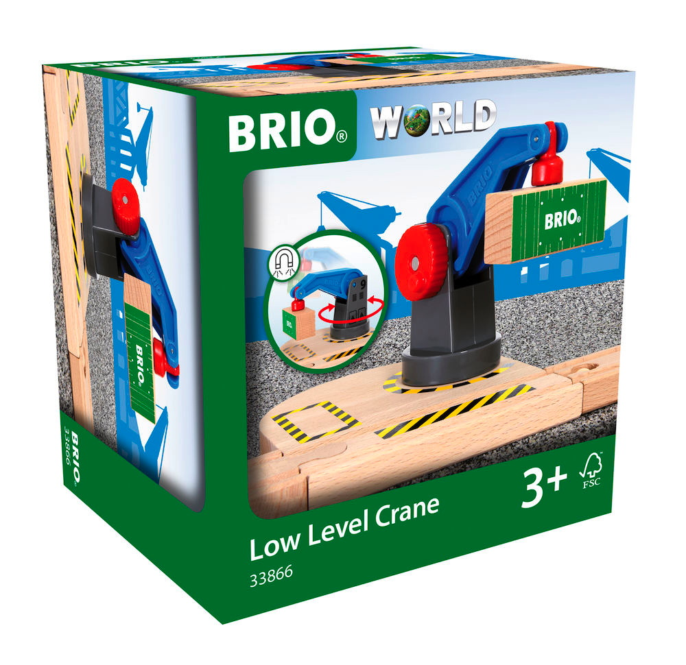 Brio World Eisenbahn Zubehör Eisenbahn-Magnetkran 2 Teile 33866