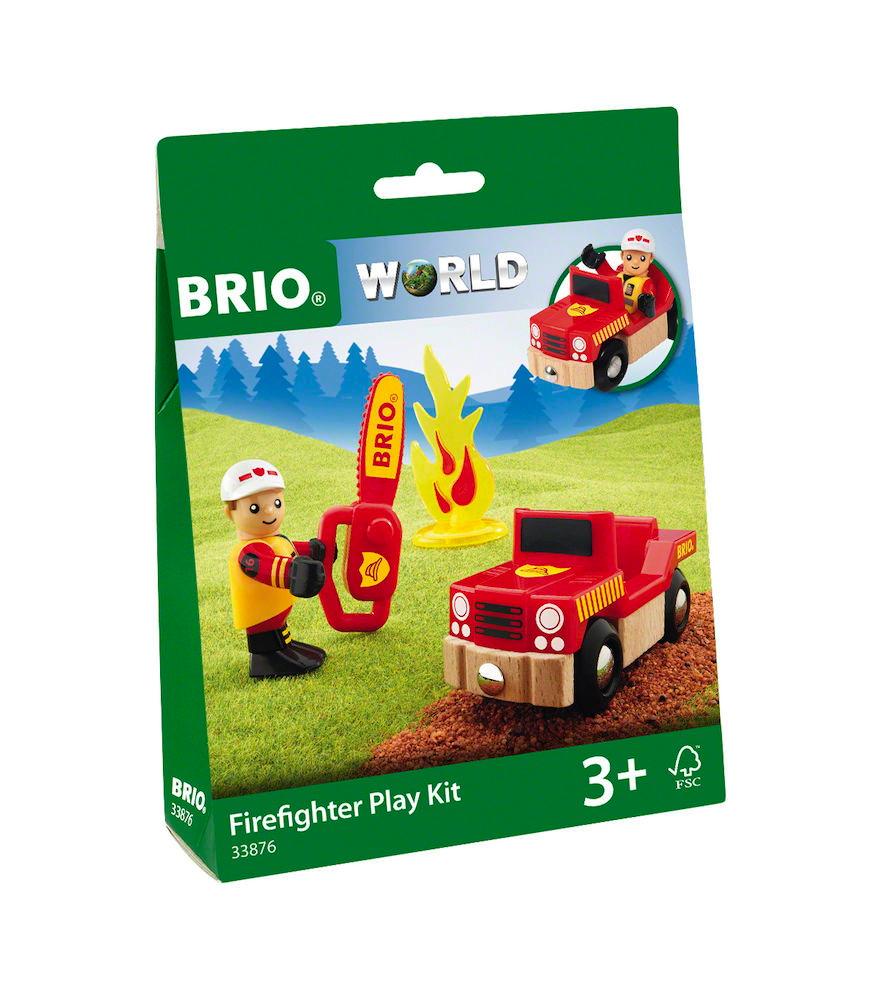 Brio World Eisenbahn Fahrzeug Spielpäckchen Feuerwehr 4 Teile 33876