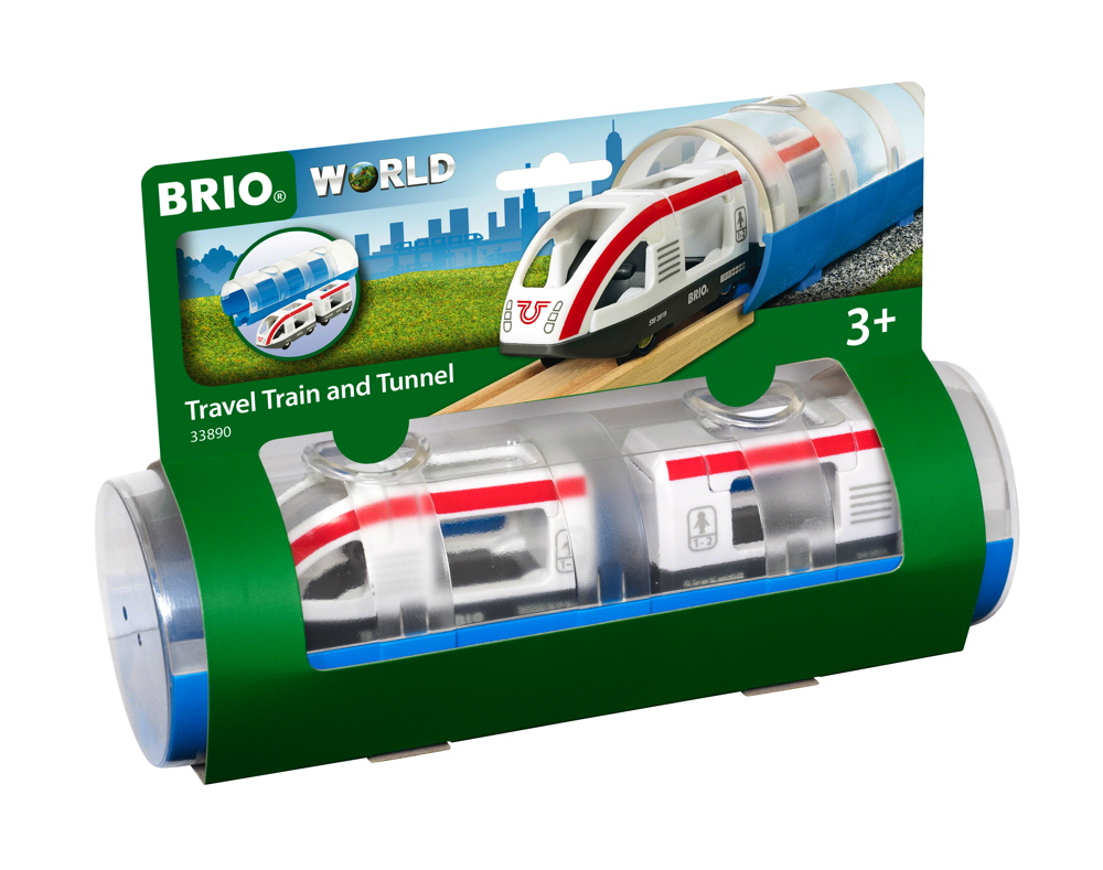 Brio World Eisenbahn Zug Tunnel Box Reisezug 3 Teile 33890