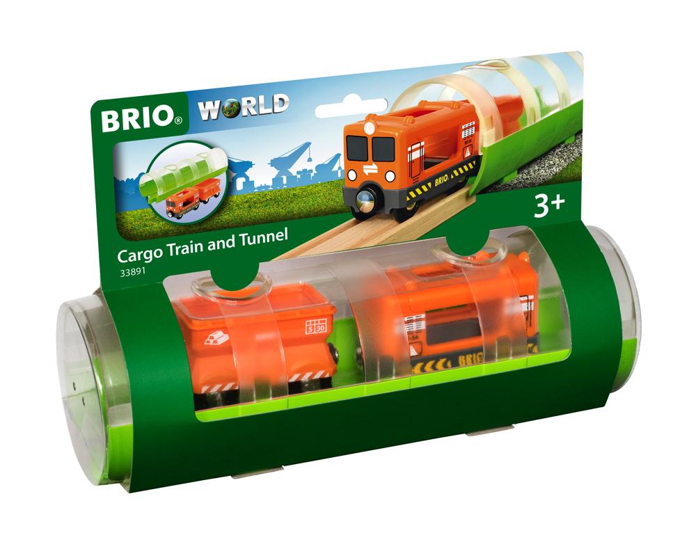 Brio World Eisenbahn Zug Tunnel Box Frachtzug 3 Teile 33891