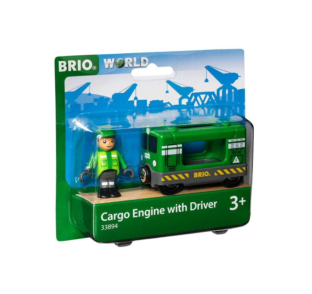 Brio World Eisenbahn Lok Frachtlok mit Fahrer 2 Teile 33894