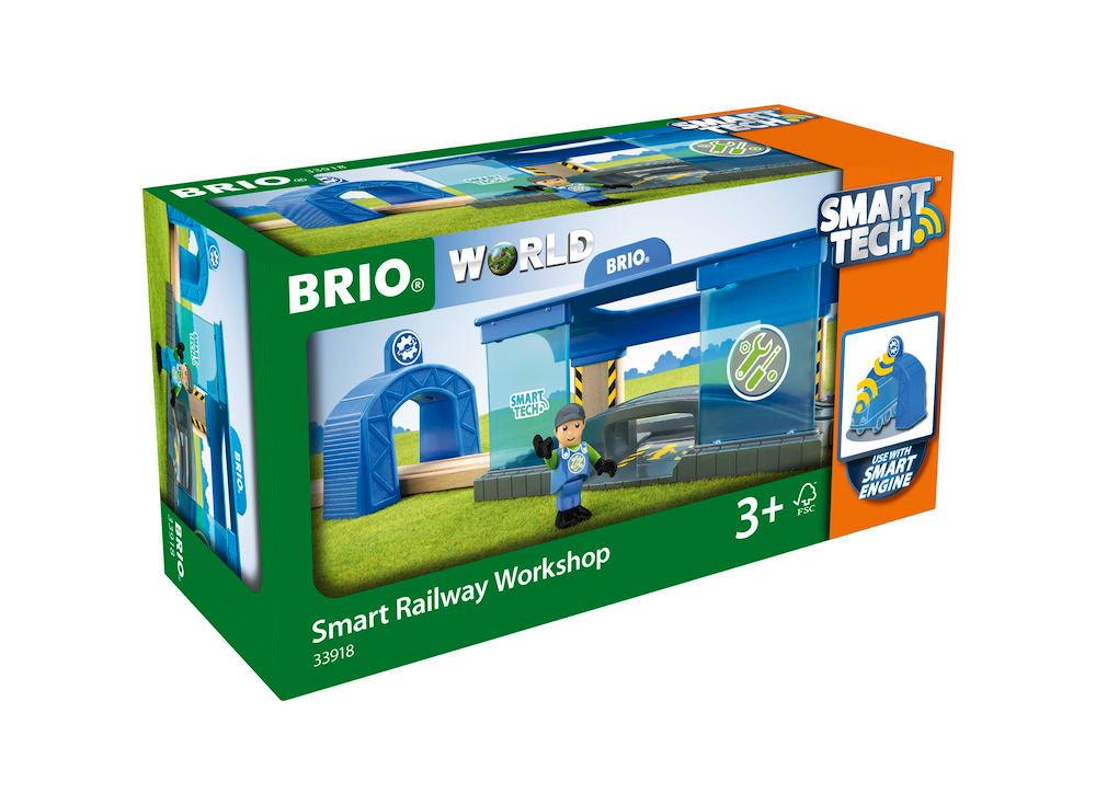 Brio World Eisenbahn Gebäude Smart Tech Eisenbahn Werkstatt 3 Teile 33918