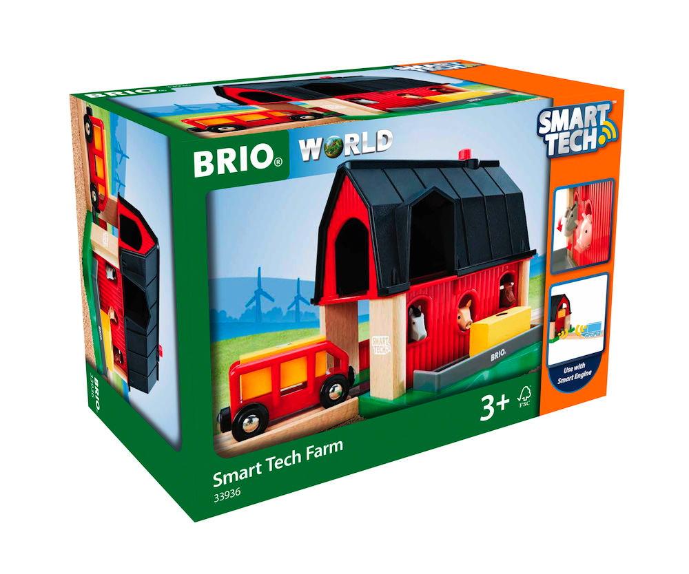 Brio World Eisenbahn Gebäude Smart Tech Bauernhof 4 Teile 33936