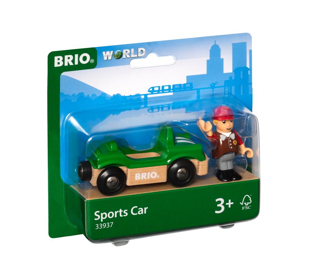 Brio World Eisenbahn Fahrzeug Sportwagen mit Fahrer 2 Teile 33937