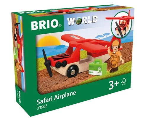 Brio World Eisenbahn Flugzeug Safari Flugzeug 3 Teile 33963