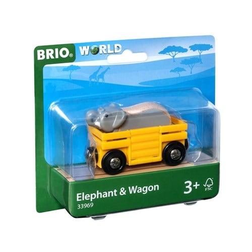Brio World Eisenbahn Waggon Tierwaggon Elefant 2 Teile 33969