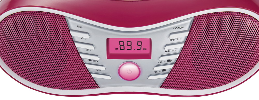 bigben tragbarer cd player cd58 union jack pink usb mp3 fm. Black Bedroom Furniture Sets. Home Design Ideas
