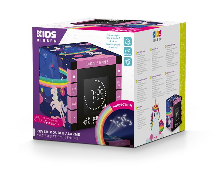 Bigben Wecker Kids R70 Unicorn Einhorn Projektor AU385045