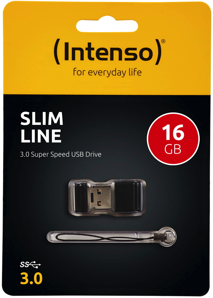 Intenso USB Stick 16GB Speicherstick Slim Line USB 3.0