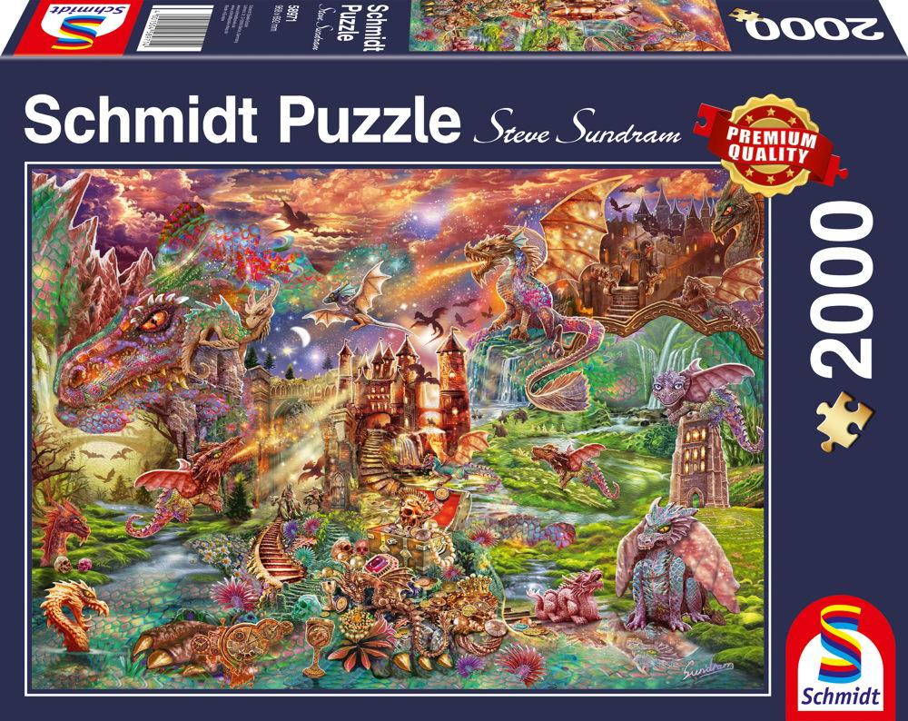 2000 Teile Schmidt Spiele Puzzle Der Schatz der Drachen 58971