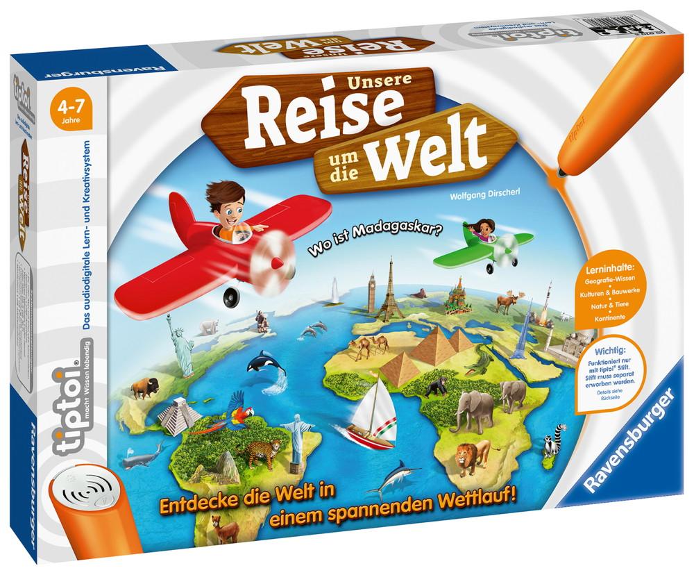 Ravensburger tiptoi Lernspiel Unsere Reise um die Welt 00070