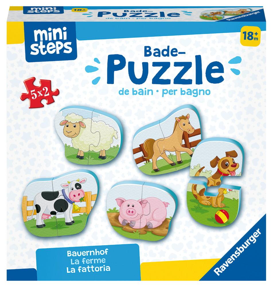 Ravensburger ministeps Spielzeug Badepuzzle Bauernhof 04167