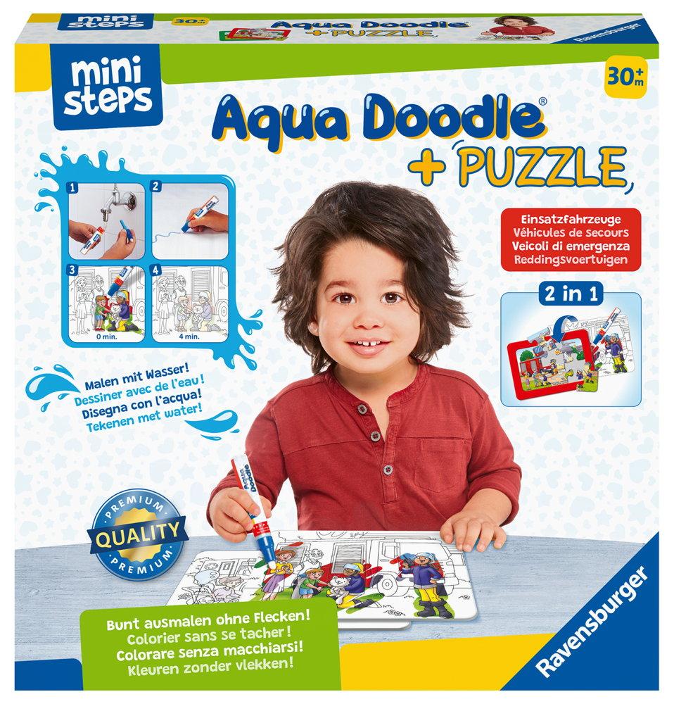 Ravensburger ministeps Aqua Doodle Puzzle Einsatzfahrzeuge 04183