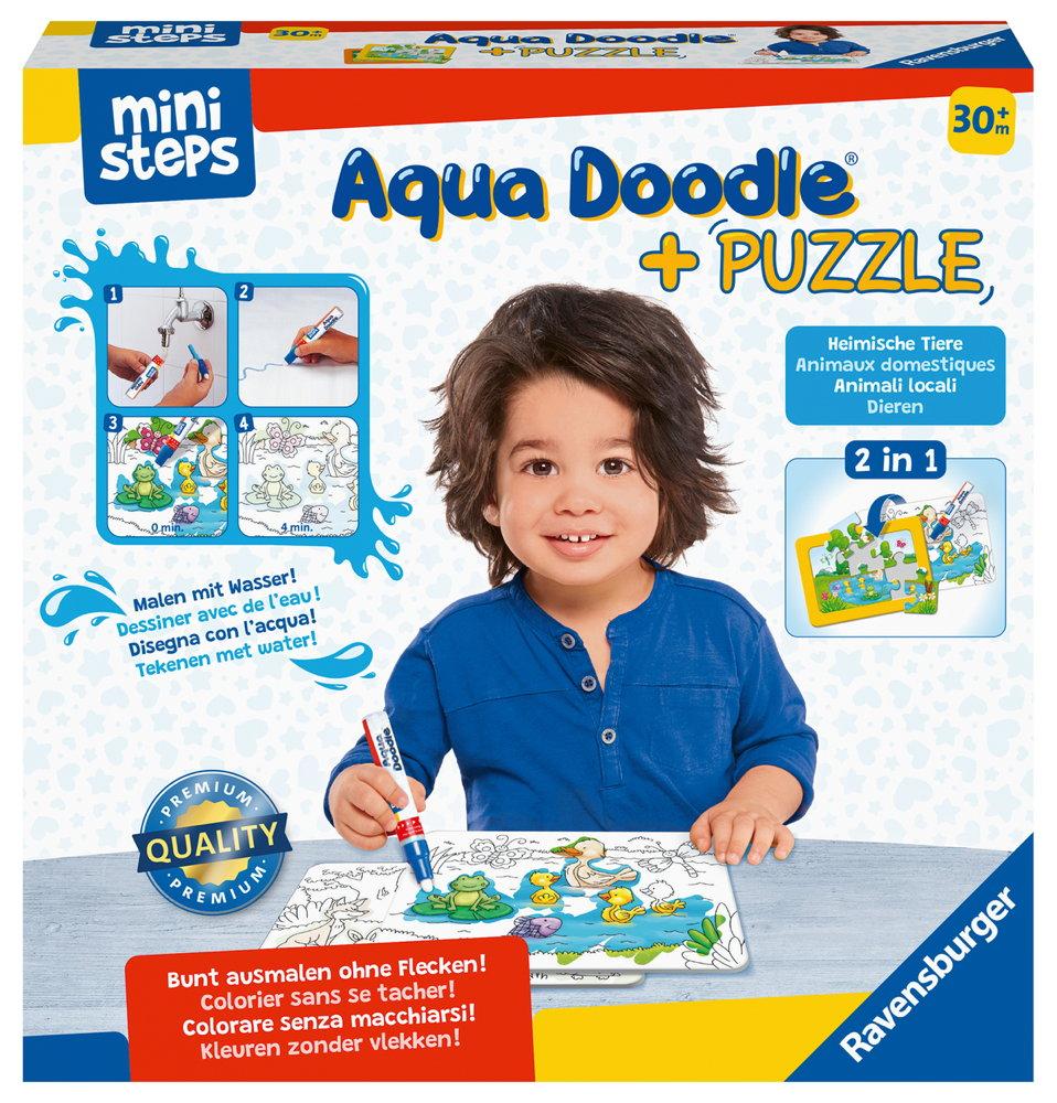 Ravensburger ministeps Aqua Doodle Puzzle Heimische Tiere 04184